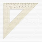 Линейка Треугольник деревянный 11см, угол 45 градусов, Можга С-138 фото