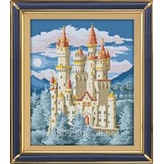"""Набор для рисования камнями """"Древний замок"""" 1862 фото"""