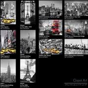 """Готовые швейцарские фотообои """"Чёрно-белый город"""" 115х175 см. Бесплатно доставка по Украине! фото"""