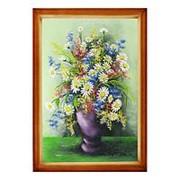 """Натюрморт """"Полевые цветы"""" багет дерево 46х66 см фото"""
