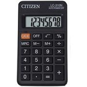 Калькулятор карманный, 8 разр., 114x69x18мм, (CITIZEN) фото