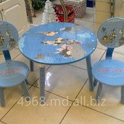 Набор мебели детск Атлас (стол кругл + 2 стула) фото