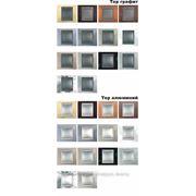 Рамки Top алюминий и графит фото