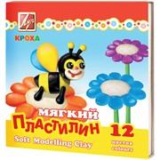 Пластилин КРОХА мягкий со стеком, 12 цв., (ЛУЧ) фото