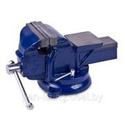 Тиски слесарные поворотные с наковальней чугунные ТСЧ-100 (100 мм) фото