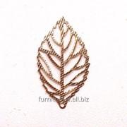 Листочек декоративный металлический, код T-020 фото