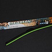 Щётка стеклоочистителя Медведь БЕСКАРКАСНАЯ, АСИММЕТРИЧНЫЙ спойлер, графитовое покрытие, SSL-15 (380 мм) фото