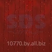 """Гирлянда """"Светодиодный Дождь"""" 2х3м, постоянное свечение, черный провод, 220В, диоды КРАСНЫЕ, NEON-NIGHT фото"""