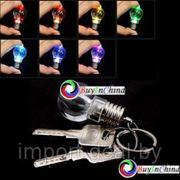 Мини LED брелок в форме электрической лампочки фото