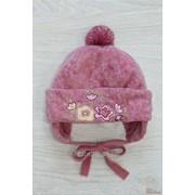 Розовая шапочка для девочки. Pupill А1074 в фото