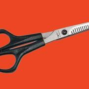 Ножницы филировочные двухсторонние остроконечные с усилителем фото
