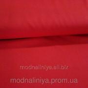 Ткань габардин (красный) фото
