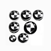 Комплект эмблем Carbon White Black Classic на BMW фото