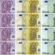 "Вафельная картинка ""Евро "" фото"
