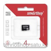 Micro SDHC карта памяти Smartbuy 4GB class 4 без адаптеров фото