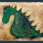 Картина Дракон для деткой комнаты фото
