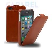 Кожанный чехол Melkco Jacka Type Brown для iPhone 4/4S фото
