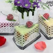 Кусочек вишневого тортика (махровое полотенце) фото