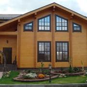Строительство домов из клееного профилированного бруса фото