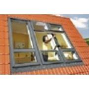 Двухстворчатое окно для крыши с приподнятой осью поворота створки FDH фото