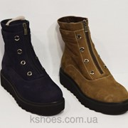 Зимние коричневые ботинки Destino 129 фото