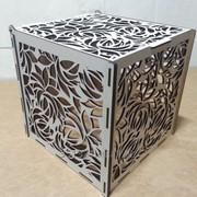 Коробка куб под цветы фото