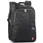 Рюкзак черный с отделом для ноутбука фото