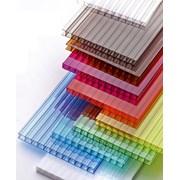 Сотовый поликарбонат от 4 до 10 мм цветной и прозрачный. Тепличный для беседок или навесов. Доставка по всей области. 2 УФ защита № 00070 фото