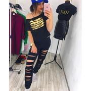 Женский спортивный костюм с интерактивными пайетками, 2 цвета фото