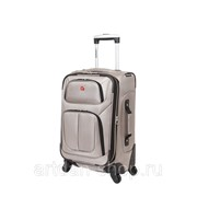 Чемодан WENGER SION, светло- серый, полиэстер 750x750D добби, 37x22x60 см, 35 л фото