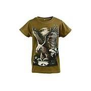 Модная футболка коричневого цвета с коротким рукавом 8 фото