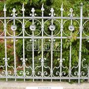 Забор с элементами ковки фото
