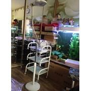 Лампа лупа LED на штативе фото