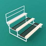 Трибуна спортивная 3х-ярусная (15 мест) с сиденьями из обрезной доски ТЗД-3-15 фото