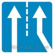 Дорожные знаки Информационно-указательные знаки Примыкание дополнительной полосы движения с правой сторон 5.23 фото