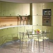 Кухня светло-зеленая фото