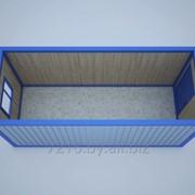 Бытовка (блок-контейнер) БК-00 (окно ПВХ в комплекте) фото