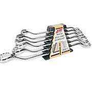 JTC-PR1012S Набор ключей накидных 10-24мм 45град. 12-ти гранных (зеркальная полировка) 6 предметов JTC фото