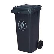Б/у Пластиковый контейнер для бытовых отходов на роликах 120 л фото