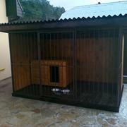 Изготовим будки, вольеры для собак фото