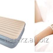 Односпальный надувной матрас Bestway 67477 - 203х152х41 см, серый фото