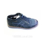 Зимние ботинки из натуральной замши арт. 50338 фото