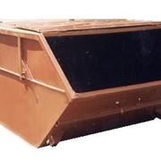 Бункер - накопитель для мусора закрытый 8 м3 фото