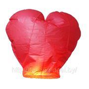 Небесный фонарик «Сердце» (красный) фото