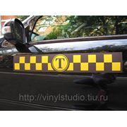 Магнитные наклейки на такси фото
