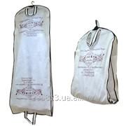 Чехол кофр длинный для свадебного, вечернего платья из спанбонда, плащевки. фото