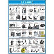 """ПЛАКАТ ПО Охране труда """"Станки"""" №18 р-р 42*56 см на ПВХ фото"""