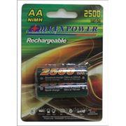 Аккумулятор АА NiMh RexPower, тип AA R06 LR6 LR06 (2 шт. в одной упаковке) 2500 mAh фото