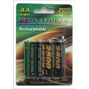 Аккумулятор АА NiMh RexPower, тип AA R06 LR6 LR06 (4 шт. в одной упаковке) 2500 mAh фото