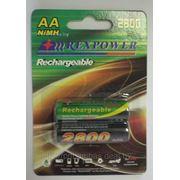 Аккумулятор АА NiMh RexPower, тип AA R06 LR6 LR06 (2 шт. в одной упаковке) 2800 mAh фото